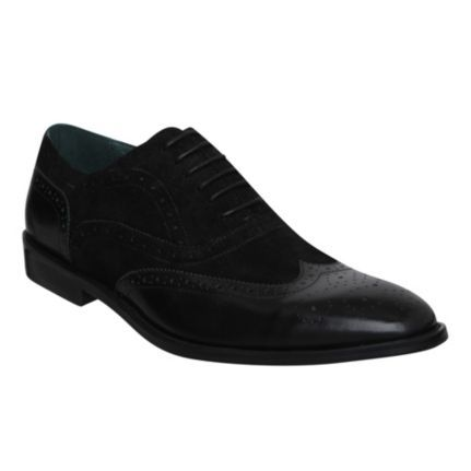 ALBEMARLE - Leather & Suede Lace Up Brogue   Formal Shoes   Dune - Size 11