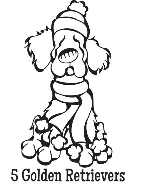 13 best Coloring Pages (12 Dogs Of Christmas) images on Pinterest - best of coloring pages for adults dogs