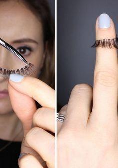 How to PROPERLY apply false eyelashes