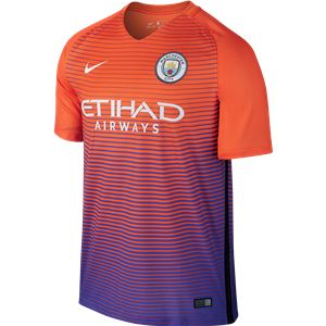 Manchester City 16/17 Third Soccer Jersey - Check out the latest British Premier League Soccer Jerseys and your favourite clubs apparel for 2016/17 at WorldSoccershop.com