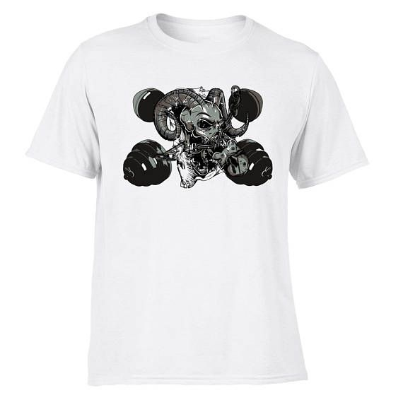 Weight Training Skull T-Shirts for Gym Workout Bodybuilding