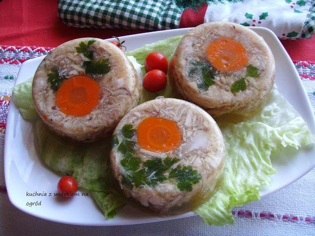 Kuchnia z widokiem na ogród: Galareta drobiowa z udek kurczaka. Szybka, smaczna, świąteczna :)