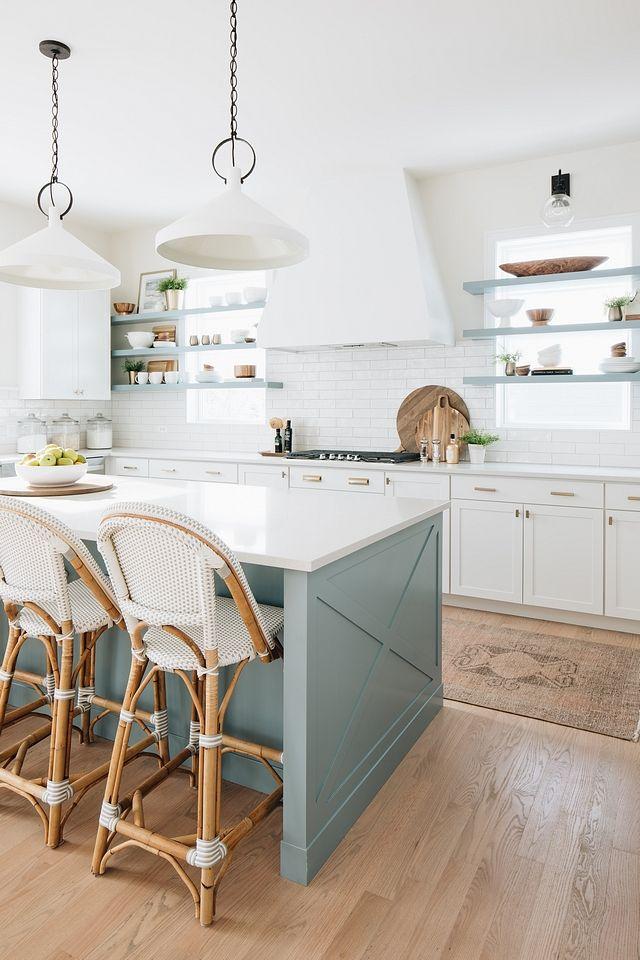 Kitchen Blue Gray Kitchen island paint color, floa…