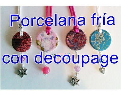 Porcelana fría decorada con decoupage.Tutorial. Cold porcelain with decoupage paper - YouTube