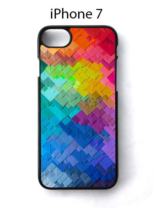 Mosaic Recatangle Rainbow iPhone 7 Case Cover - Cases, Covers & Skins