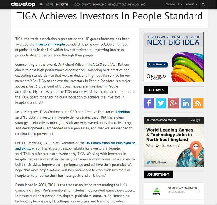 TIGA achieves IIP standard