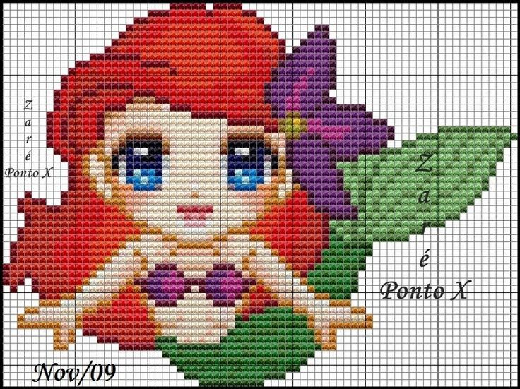 Disney's Little Mermaid cross stitch pattern.: