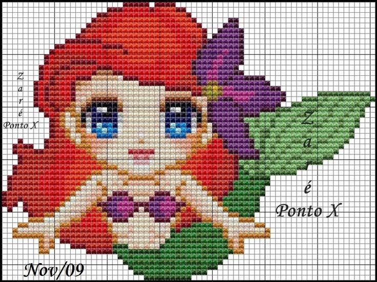 Disney's Little Mermaid cross stitch pattern.: