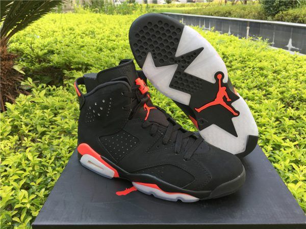 new styles 1d3af 042a5 Air Jordan 6 Black Infrared Black and Infrared 23-Black For Sale
