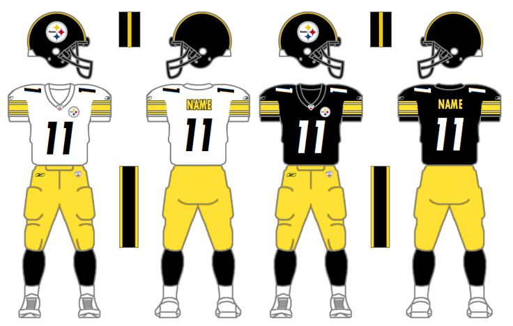 1997-present Pittsburgh Steelers uniforms