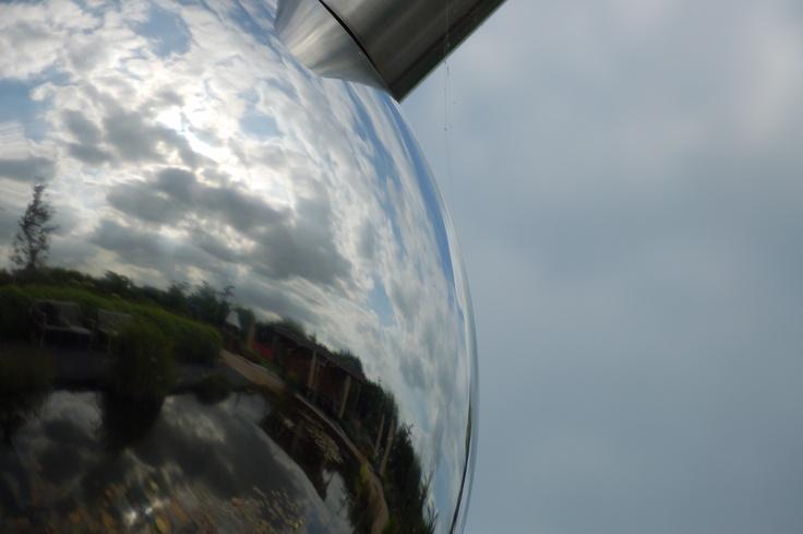 Silver balls at De Tuinen van Appeltern