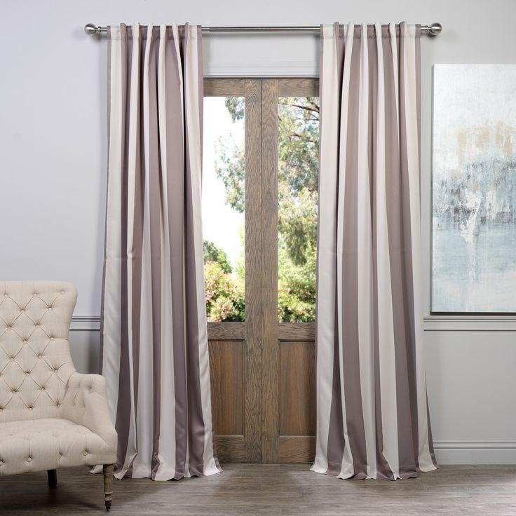 Exclusive Fabrics Charleston Stripe Tan Blackout Curtain