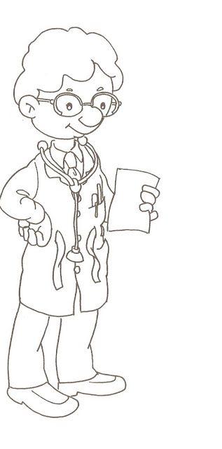 Kleurplaat dokter