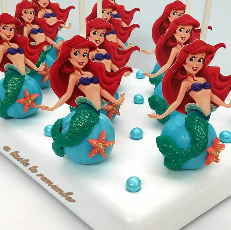 Little Mermaid cake pops