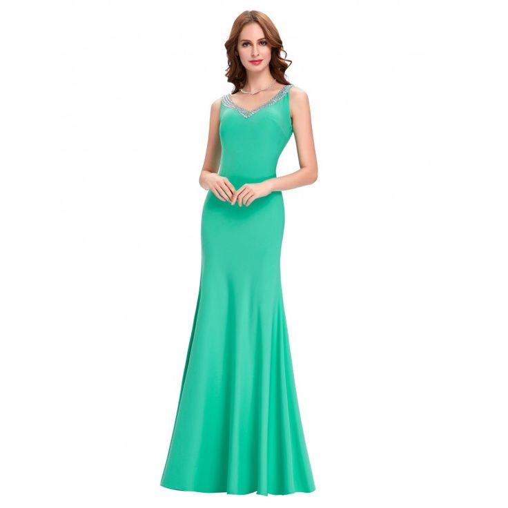 Tyrkysové spoločenské šaty CL6061