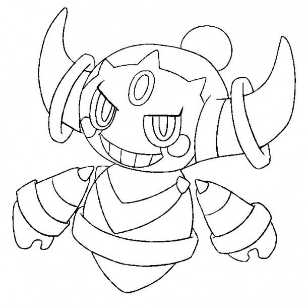 Pokemon Hoopa Coloring Coloring Coloringpages This Year