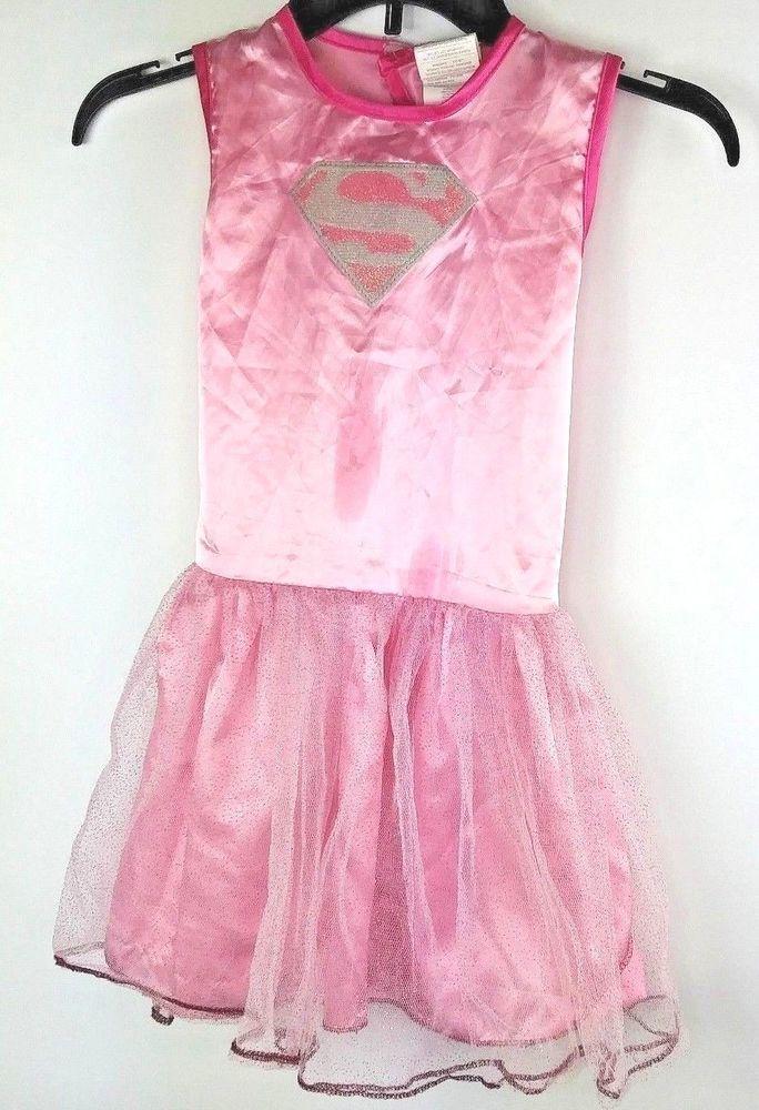 b5790d921e8a DC Comics Girl's Med Supergirl Costume Dress Up Child's Play Tutu  Sleeveless #Rubies #costumedress