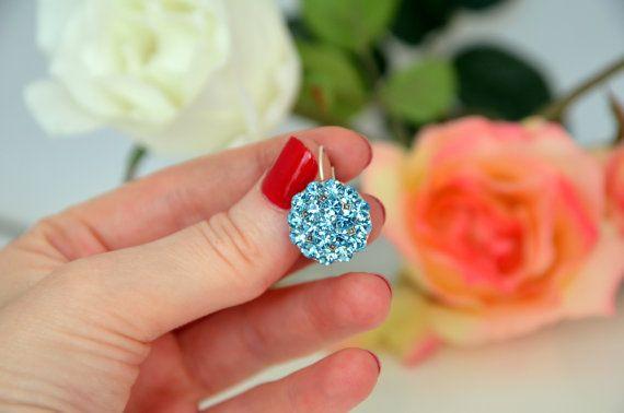 art deco blue clear crystal swarovski rhinestone by sestras: Deco Blue, Art Deco Earrings, Something Blue, Blue Art, Blue Clear