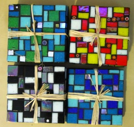 Mosaic Coasters & pics of many other small mosaic projects