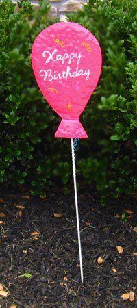 Dennis East Happy Birthday Balloon Yard Stake