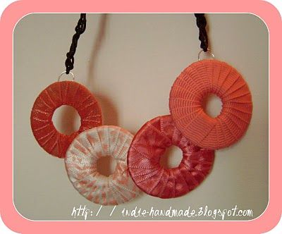 Circle necklace  (with tutorial)