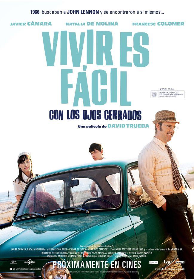 """GOYAS 2013: Vivir es facil con los ojos cerrados (título extraído de la canción """"Strawberry Fields Forever"""" de Beatles)"""