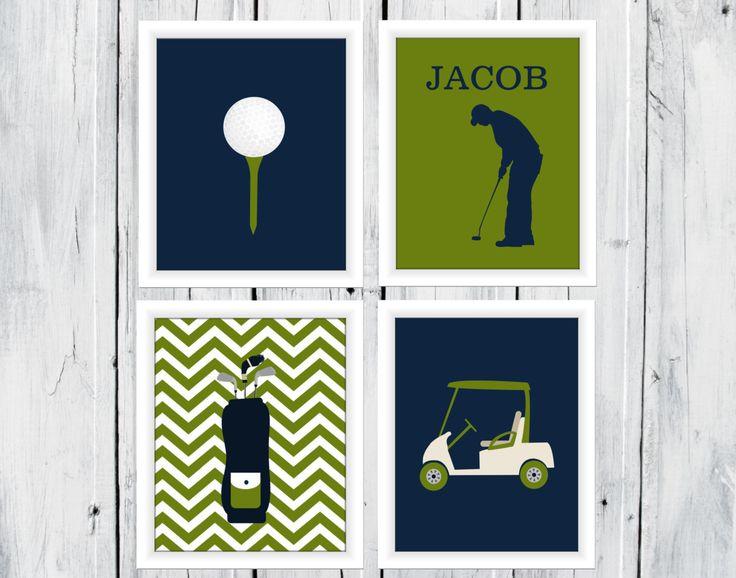 Golf Themed Decor  Boy  Custom Colors  Golf by TheEducatedOwl, $20.00