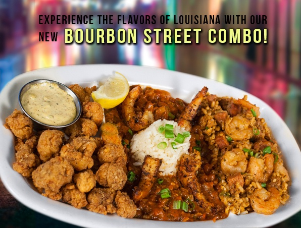 Rockfish Seafood Grill Bourbon Street Combo