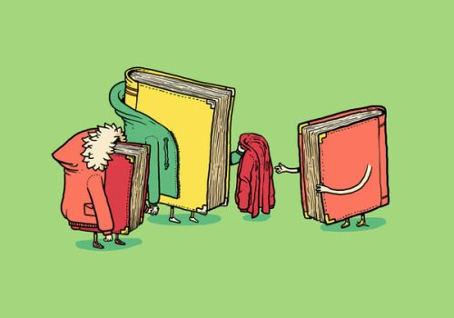 It's cold, even for the books / Hace mucho frío, también para los libros…