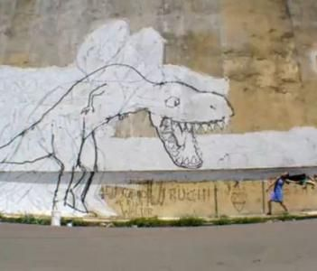 bigbangtheorie by streetartist blu