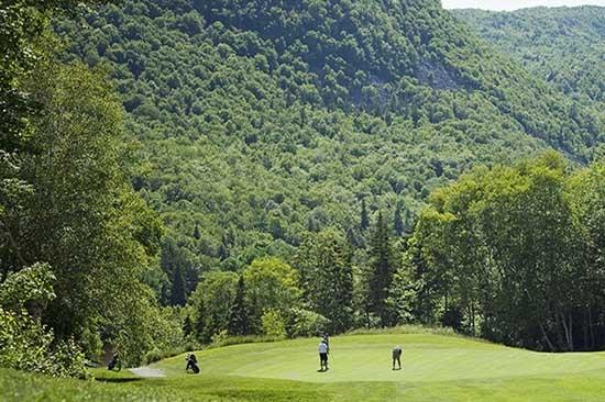 Golfing at the Highlands Links Golf Course in Cape Breton Nova Scotia
