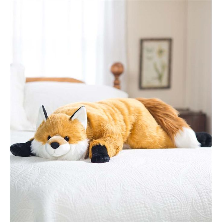 fuzzy fox body pillow gifts for pets