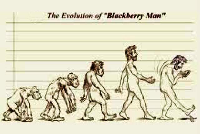 That's how the Blackberry men evolved
