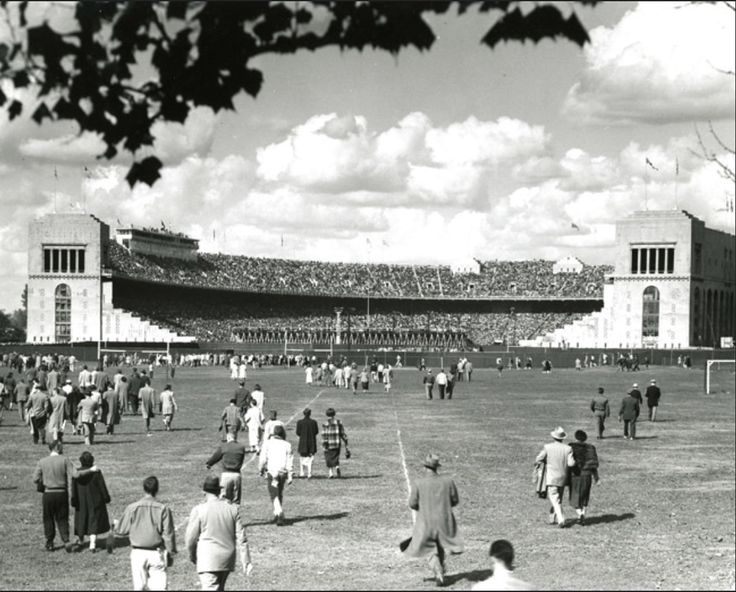 Ohio Stadium in the 1950.  That was when I was there!!  The Horseshoe!!
