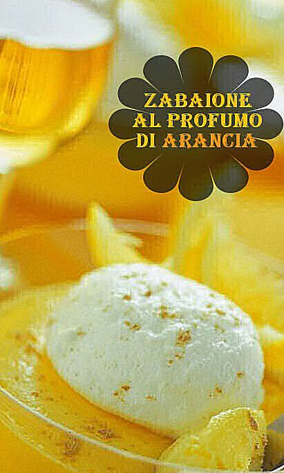 Ingredienti  1 arancia 4 tuorlo 60 gr zucchero .5 dl grand marnier q.b. panna montata .5 dl vino moscato