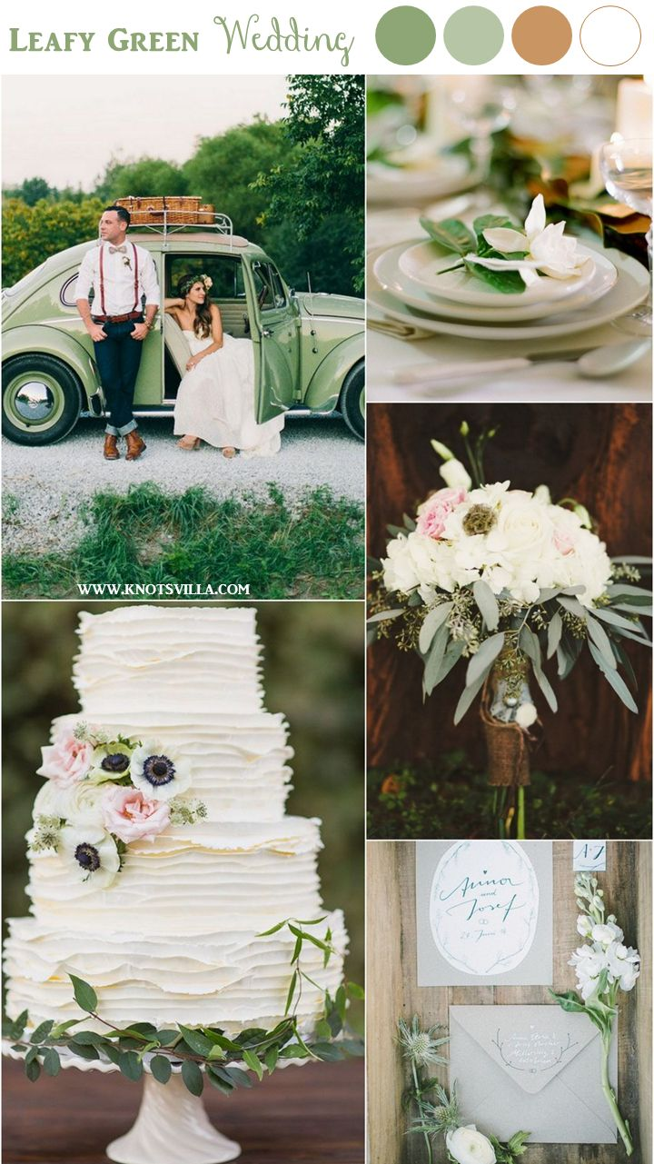 Today we are enjoying a gorgeous 3 different boards focusing on a Green and White Wedding! The Simply Green, Light (Lime) Green and something more Leafy!