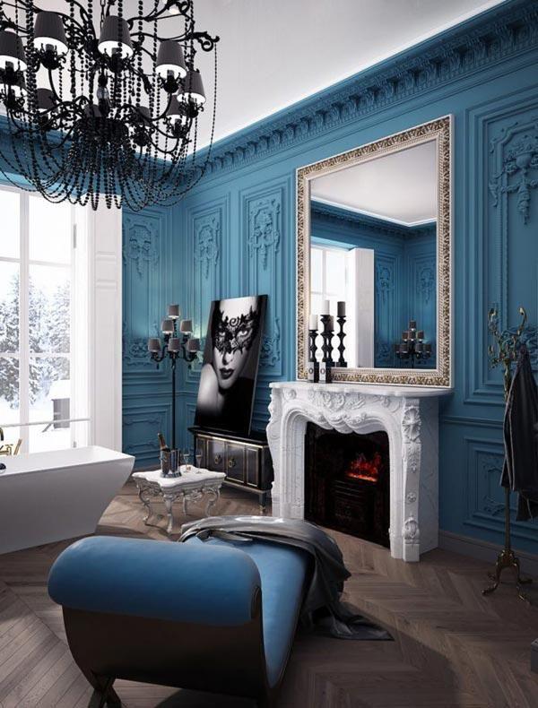 Красивый дизайн ванной комнаты в стиле барокко - Colors.life