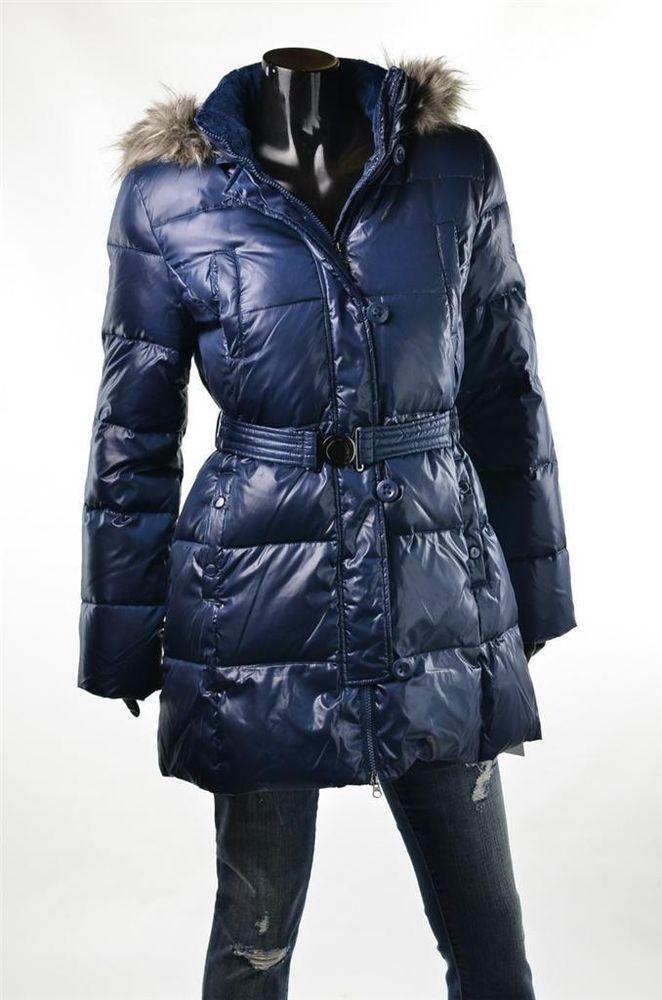 Dkny Outerwear Donna Karan Coat Womens Blue Sz L Down