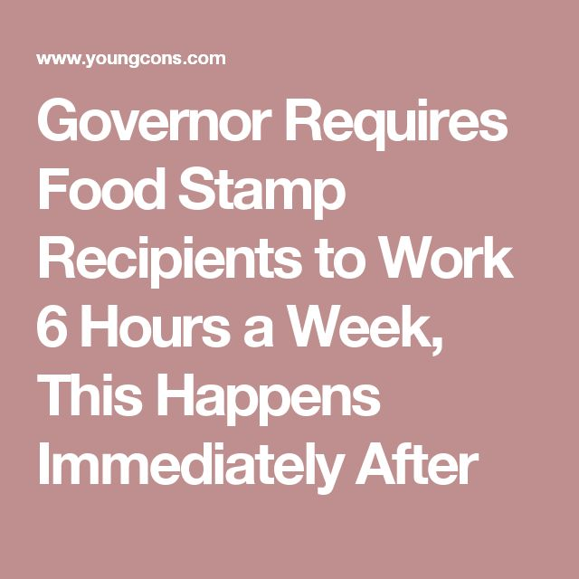 Governor Requires Food Stamp Recipients to Work 6 Hours a Week, This Happens Immediately After