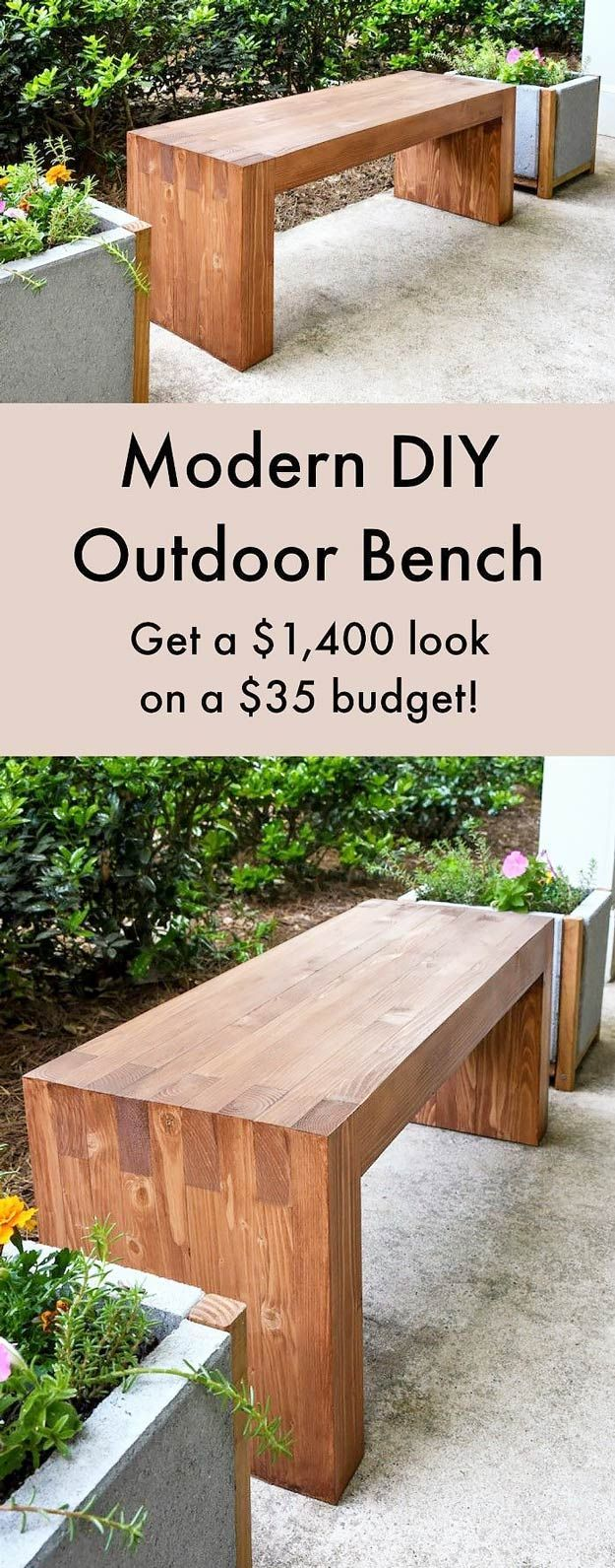 DIY Furniture Store KnockOffs - Do It Yourself Furniture Projects Inspired by Pottery Barn, Restoration Hardware, West Elm. Tutorials and Step by Step Instructions      Williams Sonoma Inspired DIY Outdoor Bench      diyjoy.com/...