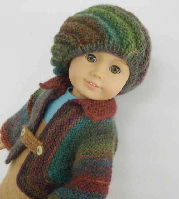 CUTE!  (aw)  Ravelry: Big Barn jacket and Big Slouchy beret knitting pattern by Irene Aksilenko