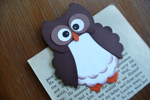 Magnetic bookmark  Brown Owl by WithaBowOnTop on Etsy, $3.00: Bookmarks, Time, Etsy, 3 00, Brown Owl, Bookmark Brown