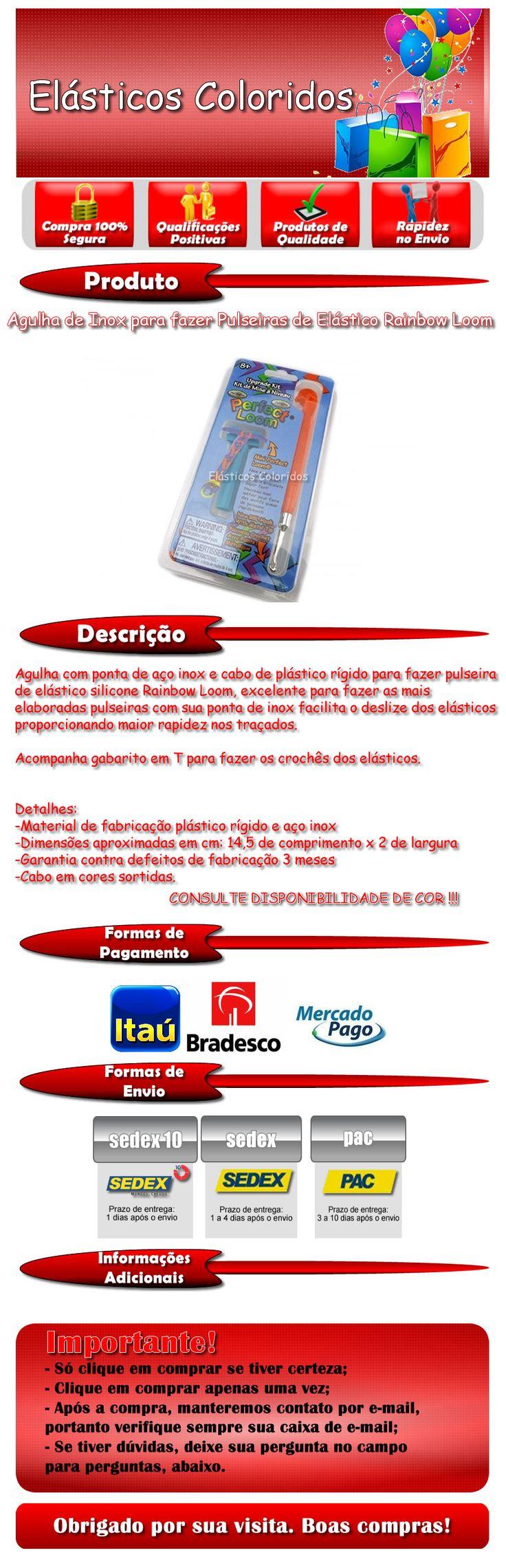 FABRICA DE PULSEIRAS ESTRELA PB KIDS-FABRICA DE PULSEIRAS RI HAPPY-FABRICA DE PULSEIRAS LOOM BANDS--COMO FAZER PULSEIRAS DE ELASTICOS COLORIDOS-COMO FAZER PULSEIRA ELASTICO PASSO A PASSO-COMO HACER PULSERA HEXAFISH-COMO FAZER PULSEIRA DE ELASTICO ESCAMA DE DRAGAO-FABRICA DE PULSEIRA FAZ DE VERDADE ESTRELA-AGULHA INOX PARA FAZER PULSEIRA ELASTICO PEDIDOS - :(11) 9.7641 4980 CLARO- http://www.elasticoscoloridos.com.br- https://www.facebook.com/pages/El%C3%A1sticos-Coloridos/844302925622086-