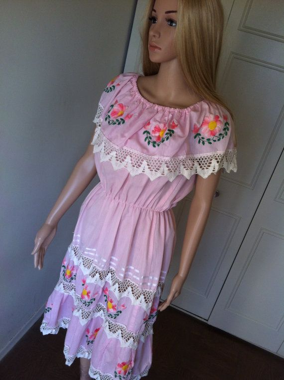 Summer Sale Vintage Barbie Pink Mexican Party by VintageBumbleBee, $34.50