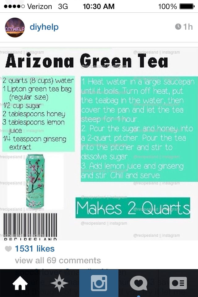 Arizona green tea :) #diy