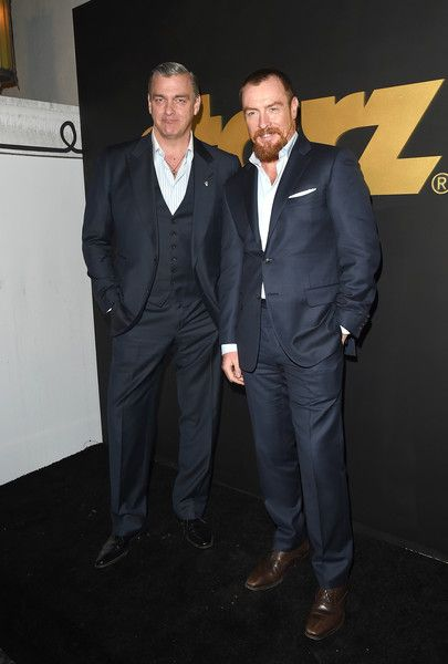 Ray Stevenson and Toby Stephens attend the STARZ Pre-Golden Globe Celebration at Chateau Marmont on January 8, 2016 in Los Angeles, California. (Jan. 7, 2016 - Source: Jason Merritt/Getty Images North America)