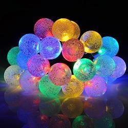 [VicTsing 30er LED Solar Lichterkette 20ft Wasserdicht Tragbar Lichterkette Innen- und Außen Weihnachtsbeleuchtung für