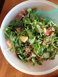 Rucola Salat mit Melone und Schinken - Rezept auf www.weitblickwinkel.de