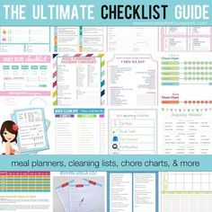 25 Free Printable Checklists - Reasons To Skip The Housework