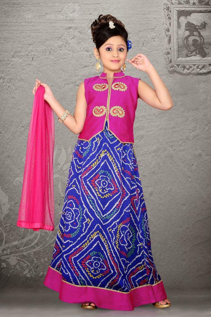 Plushy Blue Kids Girls Wear - MQTZ072B0199L   Indian Trendz